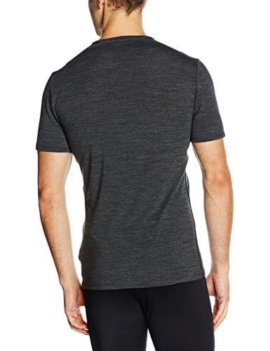 Icebreaker Merino Men's Anatomica Short Sleeve V-Neck Shirt (Slim Fit Undershirt), Merino Wool 2