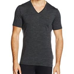 Icebreaker Merino Men's Anatomica Short Sleeve V-Neck Shirt (Slim Fit Undershirt), Merino Wool 10