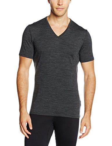 Icebreaker Merino Men's Anatomica Short Sleeve V-Neck Shirt (Slim Fit Undershirt), Merino Wool 1