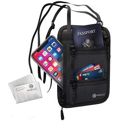 Neck Wallet - Passport Holder - Rfid Travel Pouch - Anti Theft Waterproof Security Hidden Neck Bag For Men And Women 3