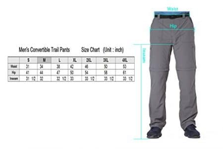 Trailside Supply Co. Men's Quick-Dry Convertible Nylon Trail Pants with Belt 4