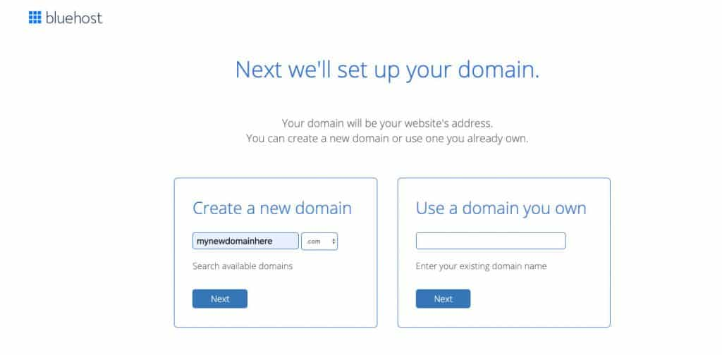 Select a Domain Name for your WordPress Website on Bluehost