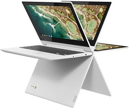 "2019 Lenovo 11.6"" HD IPS Touchscreen 2-in-1 Chromebook, Quad-Core MediaTek MT8173C (4C, 2X A72 + 2X A53), 4GB RAM, 32GB eMMC, 802.11ac WiFi, Bluetooth 4.2, HDMI, Type-C, Chrome OS 3"