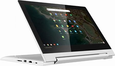 "2019 Lenovo 11.6"" HD IPS Touchscreen 2-in-1 Chromebook, Quad-Core MediaTek MT8173C (4C, 2X A72 + 2X A53), 4GB RAM, 32GB eMMC, 802.11ac WiFi, Bluetooth 4.2, HDMI, Type-C, Chrome OS 1"