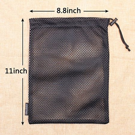 5 PCS Multi Purpose Nylon Mesh Drawstring Storage Ditty Bags for Travel & Outdoor Activity by Erlvery DaMain 2