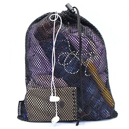 5 PCS Multi Purpose Nylon Mesh Drawstring Storage Ditty Bags for Travel & Outdoor Activity by Erlvery DaMain 3