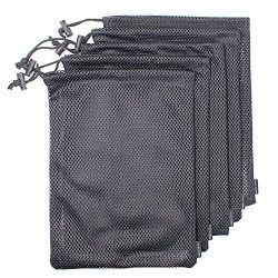 5 PCS Multi Purpose Nylon Mesh Drawstring Storage Ditty Bags for Travel & Outdoor Activity by Erlvery DaMain 12