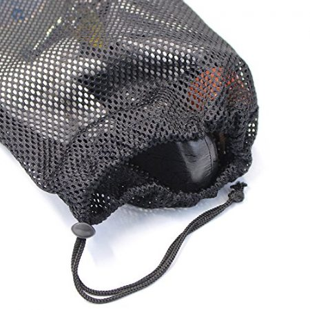 5 PCS Multi Purpose Nylon Mesh Drawstring Storage Ditty Bags for Travel & Outdoor Activity by Erlvery DaMain 5