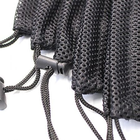 5 PCS Multi Purpose Nylon Mesh Drawstring Storage Ditty Bags for Travel & Outdoor Activity by Erlvery DaMain 6
