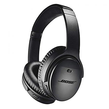 Bose QuietComfort 35 II Wireless Bluetooth Headphones, Noise-Cancelling, with Alexa voice control, enabled with Bose AR – Black 1