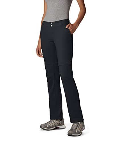 Columbia Women's Saturday Trail II Convertible Pant, Water & Stain Resistant, 12 Short, Black 1