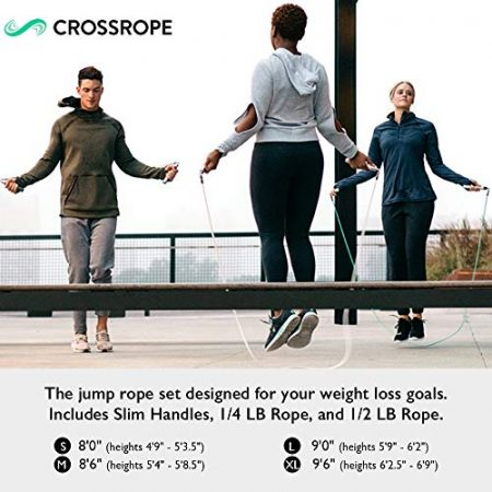 Crossrope Get Lean - Weighted Jump Rope Set 3