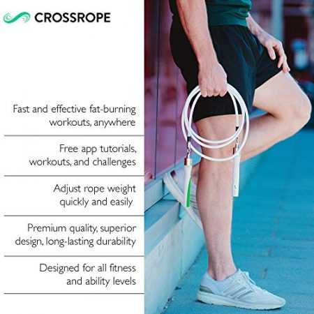 Crossrope Get Lean - Weighted Jump Rope Set 5