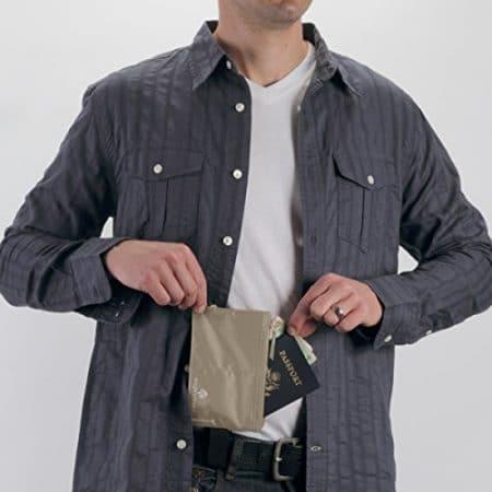 Eagle Creek Travel Gear Luggage RFID Blocker Hidden Pocket, Tan 2