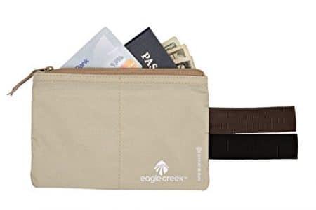 Eagle Creek Travel Gear Luggage RFID Blocker Hidden Pocket, Tan 3