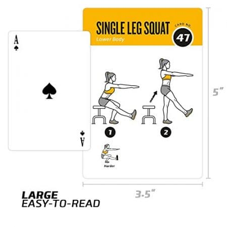 Exercise Cards BODYWEIGHT - Home Gym Workout Personal Trainer Fitness Program Guide Tones Core Ab Legs Glutes Chest Biceps Total Upper Body Workouts Calisthenics Training Routine 3