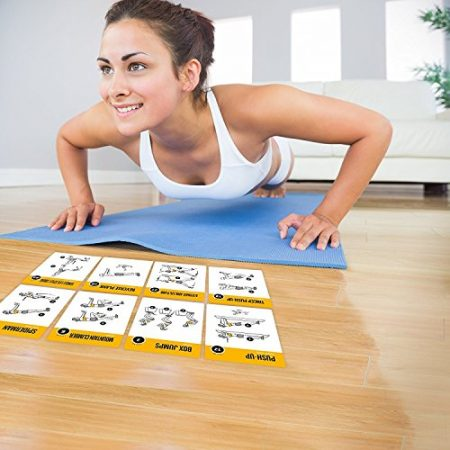 Exercise Cards BODYWEIGHT - Home Gym Workout Personal Trainer Fitness Program Guide Tones Core Ab Legs Glutes Chest Biceps Total Upper Body Workouts Calisthenics Training Routine 4