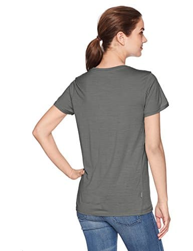 Icebreaker Merino Women's Tech Lite Short Sleeve Low Crewe Graphic Athletic T Shirts, Cadence/Metal, Small 3
