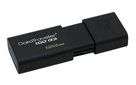 Kingston Digital 128GB DataTraveler 100 G3 USB 3.0 100MB/s Read, 10MB/s Write (DT100G3/128GB) 4