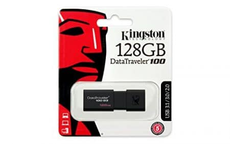 Kingston Digital 128GB DataTraveler 100 G3 USB 3.0 100MB/s Read, 10MB/s Write (DT100G3/128GB) 6