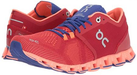 On Running Womens Cloud X Road Shoes Red/Flash SZ 7.5 7
