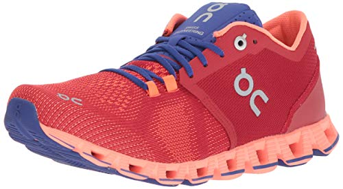 On Running Womens Cloud X Road Shoes Red/Flash SZ 7.5 2