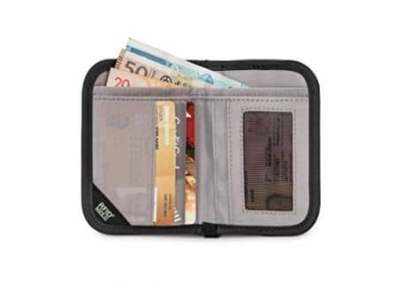 PacSafe Rfidsafe V50 Compact Wallet, Goji Berry 6