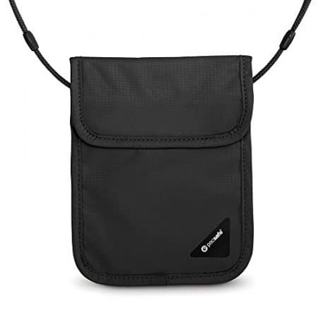 Pacsafe Coversafe X75 Anti-Theft RFID Blocking Neck Pouch, Black 1