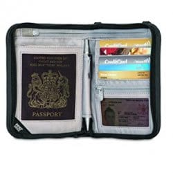 Pacsafe Rfidsafe V150 Anti-Theft RFID Blocking Compact Passport Wallet, Black 9