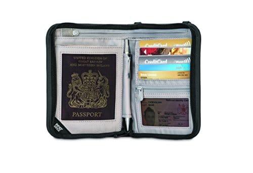 Pacsafe Rfidsafe V150 Anti-Theft RFID Blocking Compact Passport Wallet, Black 12