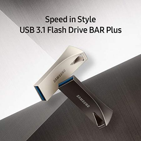 Samsung BAR Plus 256GB - 300MB/s USB 3.1 Flash Drive Champagne Silver (MUF-256BE3/AM) 5