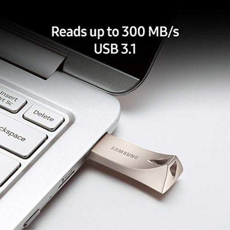 Samsung BAR Plus 256GB - 300MB/s USB 3.1 Flash Drive Champagne Silver (MUF-256BE3/AM) 6