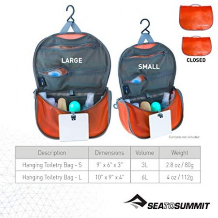 Sea to Summit Travelling Light Hanging Toiletry Bag 3