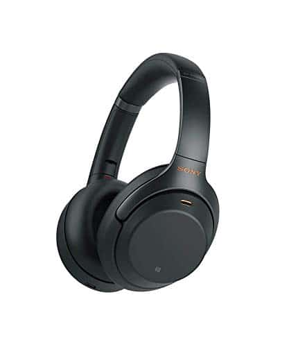 Sony Noise Cancelling Headphones WH1000XM3: Wireless Bluetooth Over the Ear Headphones with Mic and Alexa voice control - Industry Leading Active Noise Cancellation - Black 1