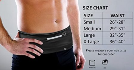 Tirrinia Unisex Running Belt Fanny Pack for iPhone X 6 7 8 Plus, Runner Workout Belt Waist Pack for Women and Men Walking Fitness Jogging Travel 5