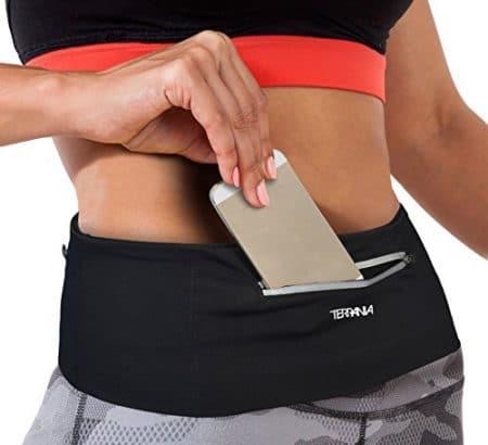 Tirrinia Unisex Running Belt Fanny Pack for iPhone X 6 7 8 Plus, Runner Workout Belt Waist Pack for Women and Men Walking Fitness Jogging Travel 1