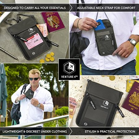 Travel Neck Pouch Neck Wallet with RFID Blocking – Passport Holder to Keep Your Cash And Documents Safe – Get Peace Of Mind When Traveling 5
