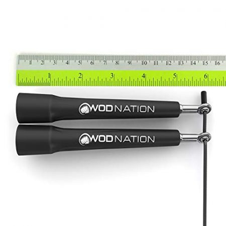 WOD Nation Speed Jump Rope - Blazing Fast Jumping Ropes - Endurance Workout for Boxing, MMA, Martial Arts or Just Staying Fit + FREE Skipping Training Included - Adjustable for Men, Women and Children 3